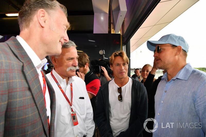 Sean Bratches, Formel-1-Marketingchef, Chase Carey, Formel-1-Chef,  Woody Harrelson, Schauspieler