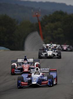 Takuma Sato, Andretti Autosport Honda, Carlos Munoz, A.J. Foyt Enterprises Chevrolet