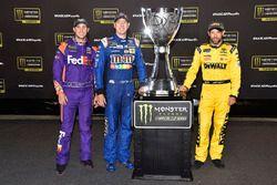 Denny Hamlin, Joe Gibbs Racing Toyota, Kyle Busch, Joe Gibbs Racing Toyota, Matt Kenseth, Joe Gibbs Racing Toyota