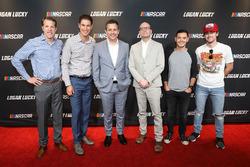 Brad Keselowski, Joey Logano, Steven Soderbergh, Kyle Larson, Ryan Blaney on the red carpet