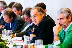 Sergio Marchionne, Presidente Ferrari e CEO di Fiat Chrysler Automobiles e Maurizio Arrivabene, Team Principal Scuderia Ferrari