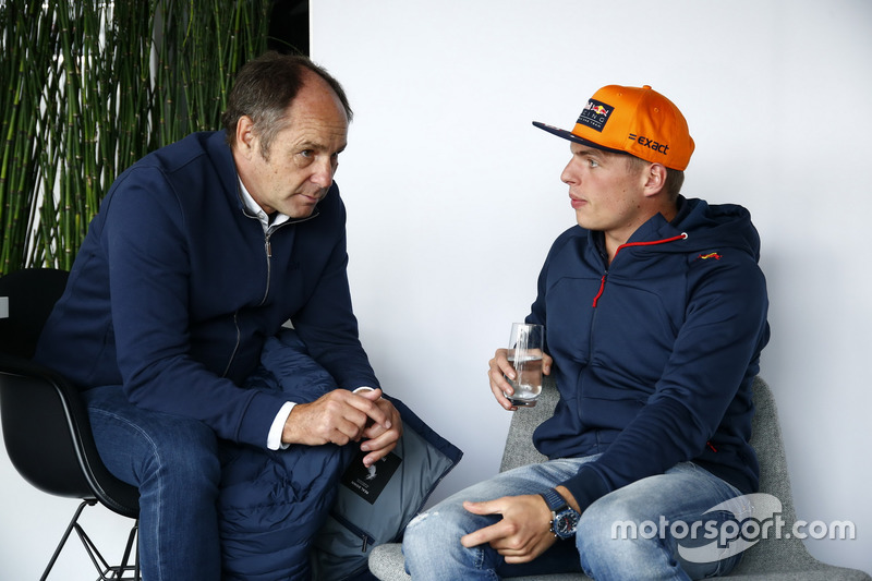 Gerhard Berger, ITR Chairman and Max Verstappen, Red Bull Racing