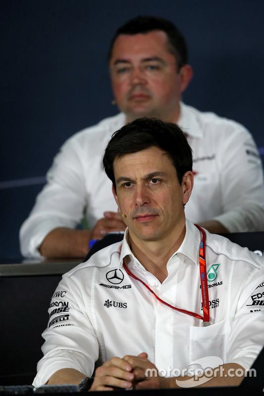 Toto Wolff, Mercedes AMG F1, Sportchef bei der FIA Pressekonferenz