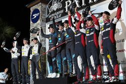 Podium: winners Ricky Taylor, Jordan Taylor, Alex Lynn, Wayne Taylor Racing, second place Joao Barbo