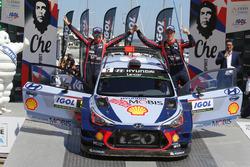 Ganadores, Thierry Neuville, Nicolas Gilsoul, Hyundai i20 Coupe WRC, Hyundai Motorsport