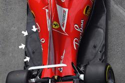 Ferrari SF70H floor detail