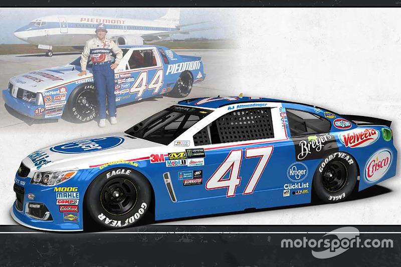 Throwback-Design: A.J. Allmendinger, JTG Daugherty Racing Chevrolet