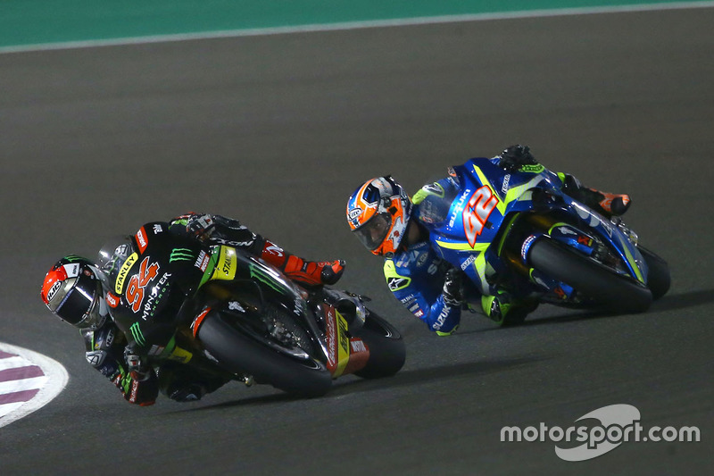 Jonas Folger, Monster Yamaha Tech 3; Alex Rins, Team Suzuki MotoGP