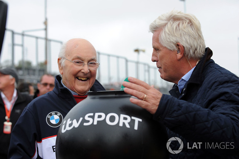 In later years, Murray helps Steve Rider with a BTCC grid draw.
