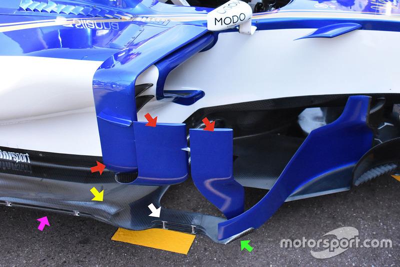 Sauber C36 detail