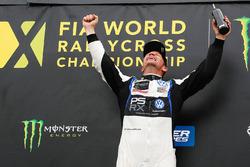 Le vainqueur Petter Solberg, PSRX Volkswagen Sweden VW Polo GTi