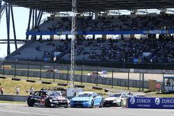 Start actie, Rob Huff, All-Inkl Motorsport, Citroën C-Elysée WTCC, Nicky Catsburg, Polestar Cyan Rac