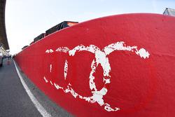Remaining Audi logo in pitlane
