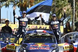 Podium : Sébastien Ogier, Julien Ingrassia, Ford Fiesta WRC, M-Sport