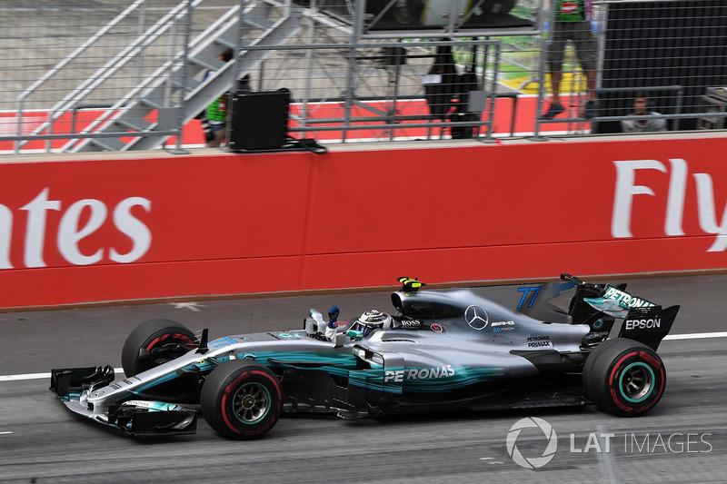 Yarış galibi Valtteri Bottas, Mercedes AMG F1
