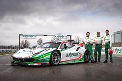 James Calado, Giancarlo Fisichella, Marco Cioci, Kaspersky Motorsport