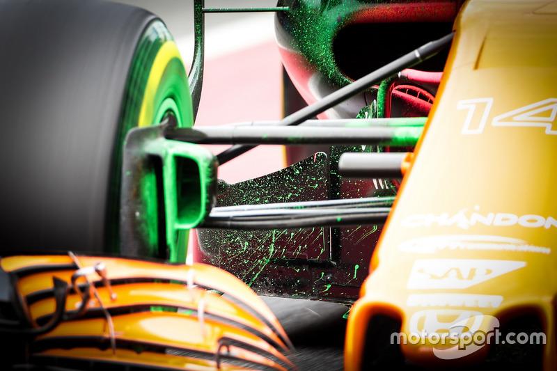 Аэродинамическая краска на McLaren MCL32 Фернандо Алонсо