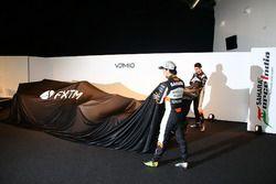 Sergio Perez and Esteban Ocon at the Sahara Force India launch