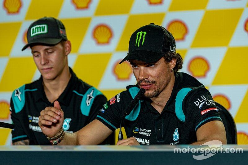 Conferencia de prensa post-pole: Fabio Quartararo, Petronas Yamaha SRT, Franco Morbidelli, Petronas Yamaha SRT