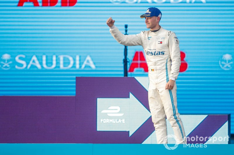 Stoffel Vandoorne, Mercedes Benz EQ, 3rd position, on the podium