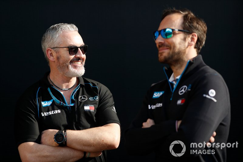 Gary Paffett with a member of the team