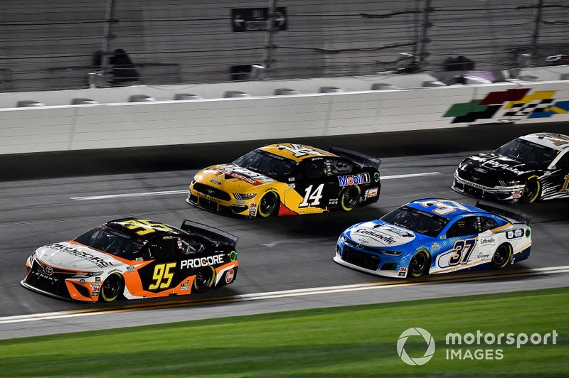 Christopher Bell, Leavine Family Racing, Toyota Camry Procore, Clint Bowyer, Stewart-Haas Racing, Ford Mustang Rush / Mobil 1, Ryan Preece, JTG Daugherty Racing, Chevrolet Camaro Cottonelle