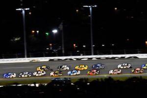 Ricky Stenhouse Jr., JTG Daugherty Racing, Chevrolet Camaro Kroger and Denny Hamlin, Joe Gibbs Racing, Toyota Camry FedEx Express