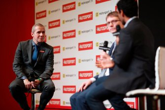 Stuart Codling hosts a live podcast on the Autosport stage