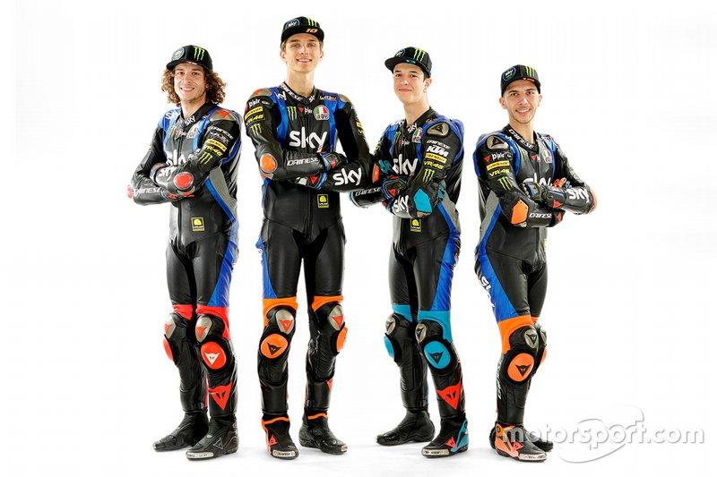 Luca Marini, Marco Bezzecchi, Celestino Vietti, Andrea Migno, Sky Racing Team VR46