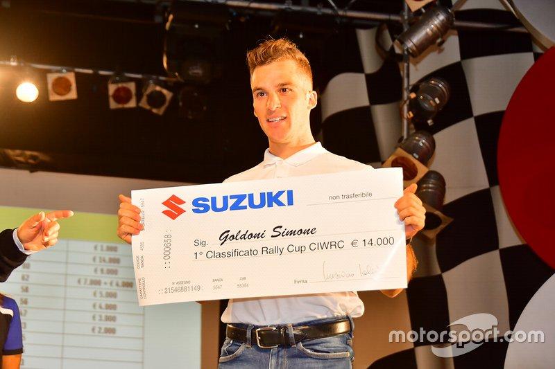 Simone Goldoni vincitore del Rally Cup CIWRC con un assegno di 14 mila in premi