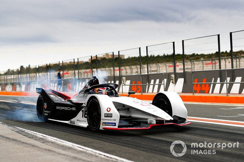 Neel Jani, Porsche, Porsche 99x Electric, burn out in the pit lane