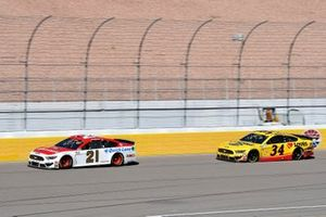 Matt DiBenedetto, Wood Brothers Racing, Ford Mustang Motorcraft/Quick Lane, Michael McDowell, Front Row Motorsports, Ford Mustang Love's Travel Stops