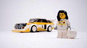 Audi S1 de Lego con Michele Mouton