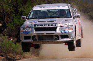 Rally winner Marcos Ligato, Mitsubishi Lancer