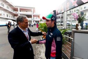 Luis Alejandro Soberon Kuri, CEO of Grupo CIE with Sergio Perez, Racing Point