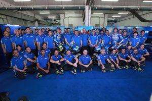Joan Mir, Team Suzuki MotoGP, Alex Rins, Team Suzuki MotoGP, mit Shinichi Sahara, Davide Brivio