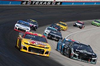 Chris Buescher, JTG Daugherty Racing, Chevrolet Camaro Slim Jim, Darrell Wallace Jr., Richard Petty Motorsports, Chevrolet Camaro Covert Auto Group