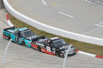 Harrison Burton, Kyle Busch Motorsports, Toyota Tundra Safelite AutoGlass, Johnny Sauter, ThorSport Racing, Ford F-150 Tenda Heal