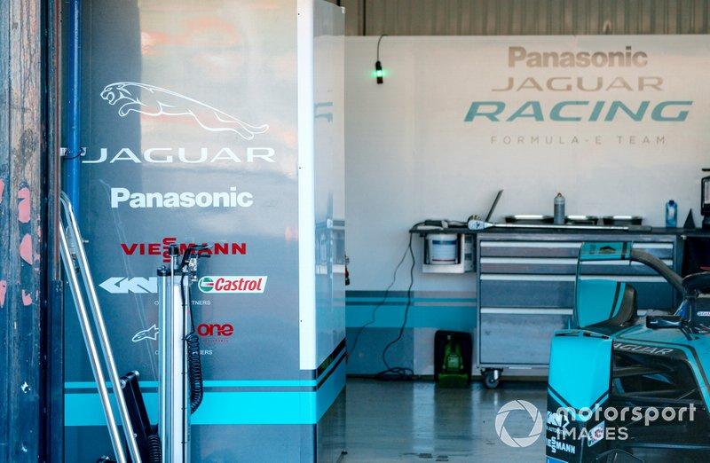 The Jaguar Racing garage