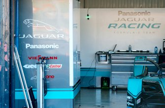 The Jaguar Racing garage