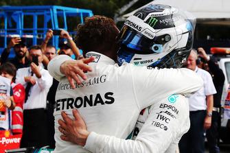 Winner Lewis Hamilton, Mercedes AMG F1, third place Valtteri Bottas, Mercedes AMG F1