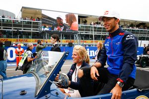 Pierre Gasly, Toro Rosso, on the drivers parade