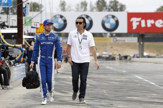 Ed Jones, Chip Ganassi Racing Honda, mit Dario Franchitti