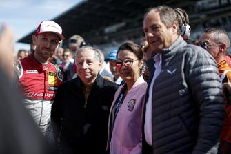René Rast, Audi Sport Team Rosberg, Jean Todt, FIA President met zijn vrouw Michelle Yeoh en Gerhard Berger, ITR-voorzitter