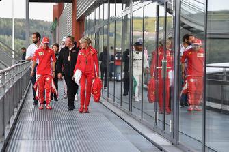 Sebastian Vettel, Ferrari and Britta Roeske PA