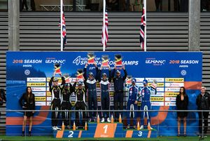Podium: winners #22 United Autosports Ligier JSP217 - Gibson: Phil Hanson, Filipe Albuquerque