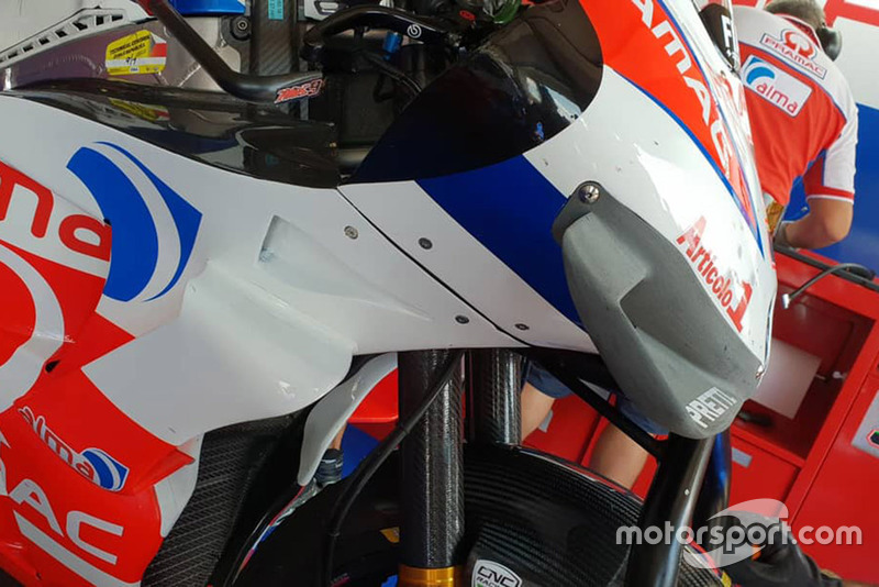 Fairing baru Danilo Petrucci, Pramac Racing
