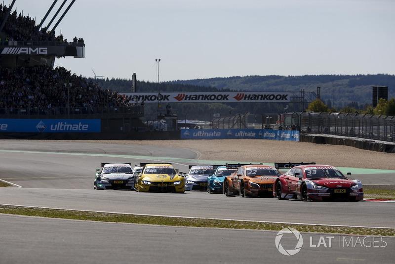 René Rast, Audi Sport Team Rosberg, Audi RS 5 DTM leads at the start of the race