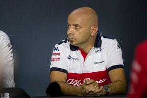 Simone Resta, Alfa Romeo Sauber F1 Team Designer in the Press Conference