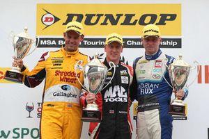 Tom Chilton, Motorbase Performance Ford Focus, Aiden Moffat, Laser Tools Racing Mercedes A-Class and Ash Sutton, Team BMR Subaru Levorg